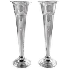 Pair of Sterling Bud Vases