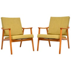 1950s Vintage Pair of Danish Armchairs