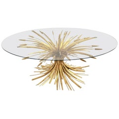 Gilded Coco Chanel Style Coffee Table France circa 1961 Hollywood Regency