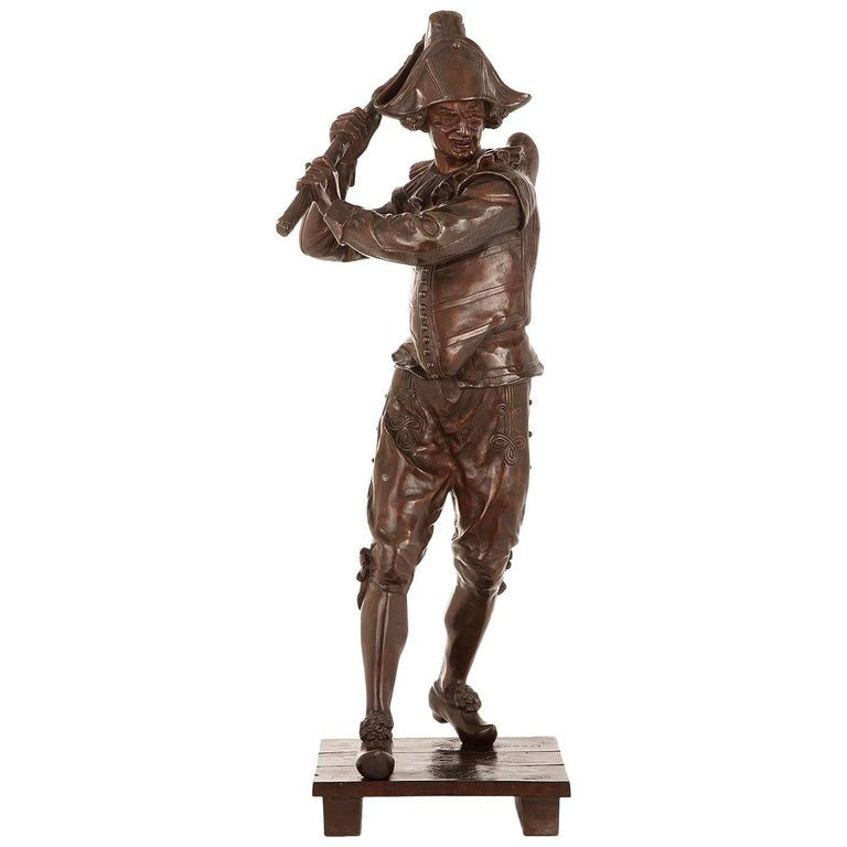 """Bronze Sculpture """"Polichinelle"""" by Marcel Debut For Sale"""