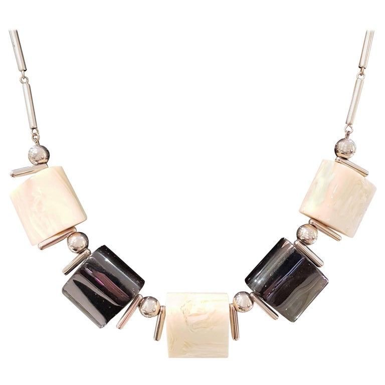Original Art Deco Necklace by Jakob Bengel in Galalith