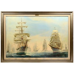 Kipp Soldwedel Operation Sail New York Harbor Oil Painting