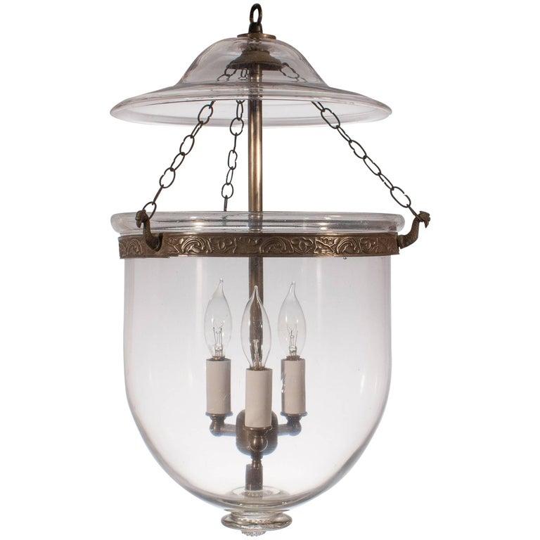 19th Century English Bell Jar Lantern