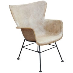 Lawrence Peabody for Selig Fiber Glass Wingback Chair