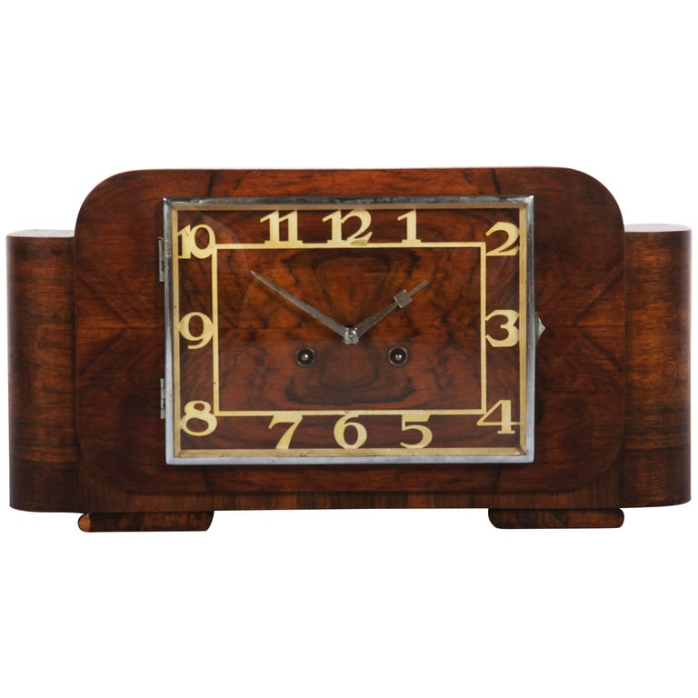 Art Deco Mantel Clock by Junghans