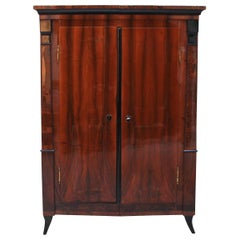 Biedermeier Armoire, Walnut/Birch Root, South Germany, circa 1820
