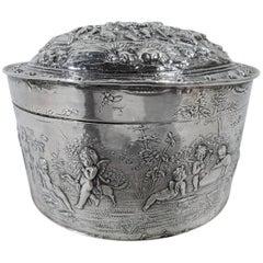 Antique German Silver Teutonic Heritage Box