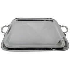 Tiffany Classic Modern Sterling Silver Tea Tray