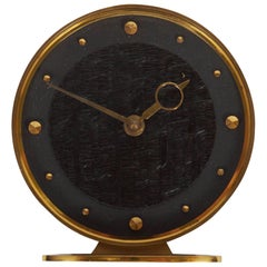 Brass Midcentury Table Clock by Kienzle