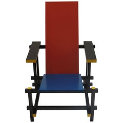 Red Blue Chair by Gerrit Rietveld for Cassina