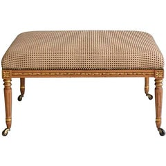 Louis XVI Style Upholstered Bench or Cocktail Table