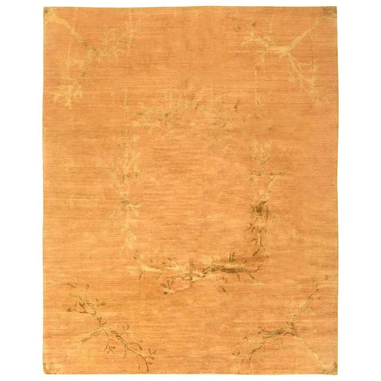 Contemporary Hand-Knotted Wool Area Rug