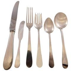 Salem by Tiffany & Co Sterling Silver Flatware Set for 12 Service 77 pcs Dinner