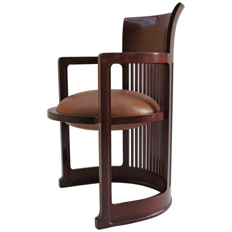 Barrel Taliesin Chair designed by Frank Lloyd Wright