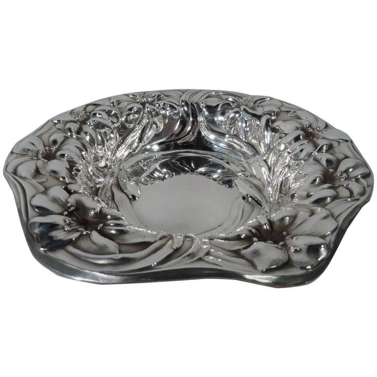 Antique American Art Nouveau Sterling Silver Bowl