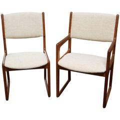Vandrup Stolefabrik Teak Dining Chairs