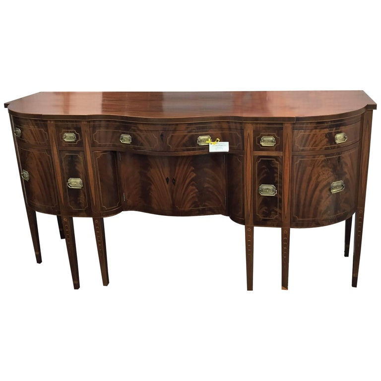 American Federal Style Sideboard in Mahogany with Inlay