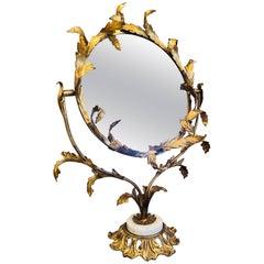 Italian Gold Gilt Vanity or Table Mirror