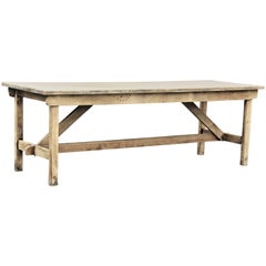 1940s American Rustic Industrial Harvest Table