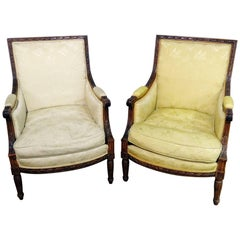 Companion Pair of Louis XVI Style Bergeres