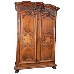Beautiful Louis XIV Walnut Armoire