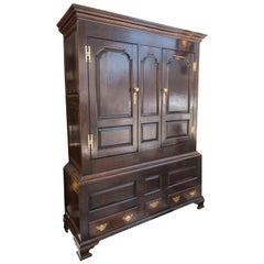 Late 18th Century Georgian Oak Livery Cabinet, circa 1780, Very Stable / Useable