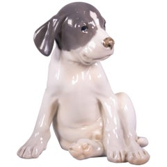 Royal Copenhagen Figure of a 'Pointer Puppy', Dated 1952