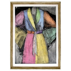 Contemporary Framed Lithograph Robe Signed Dated Numbered by Jim Dine 1991