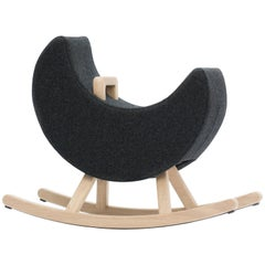 Iconic Moon Black Child Rocker by Maison Deux, Netherlands, 2016