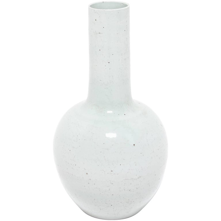 Monumental Chinese Cloud Gooseneck Vase
