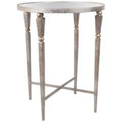 Hammered Champagne Accent Table
