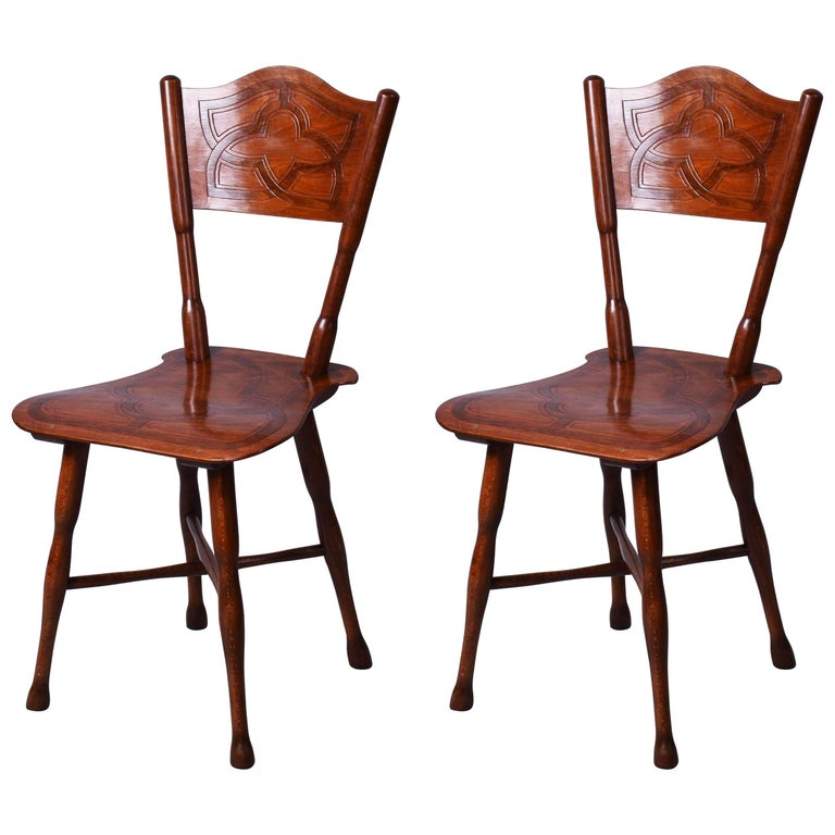Pair of Rare Thonet Chairs Model 110