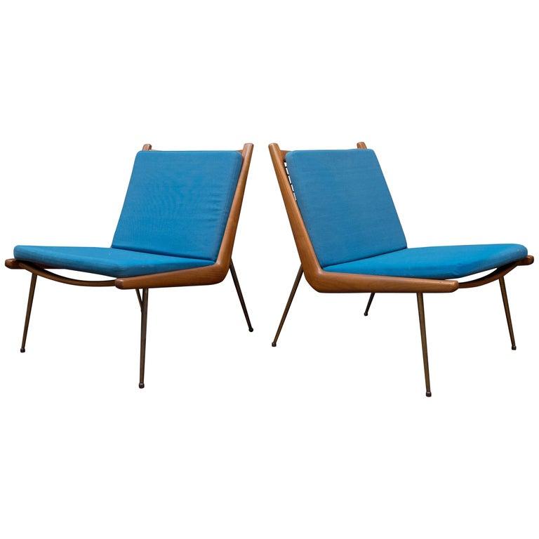 Peter Hvidt & Orla Morgaard Nielsen Bommerang Lounge Chairs For Sale