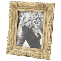 French Carved Wood Montparnasse Style Picture Photo Frame