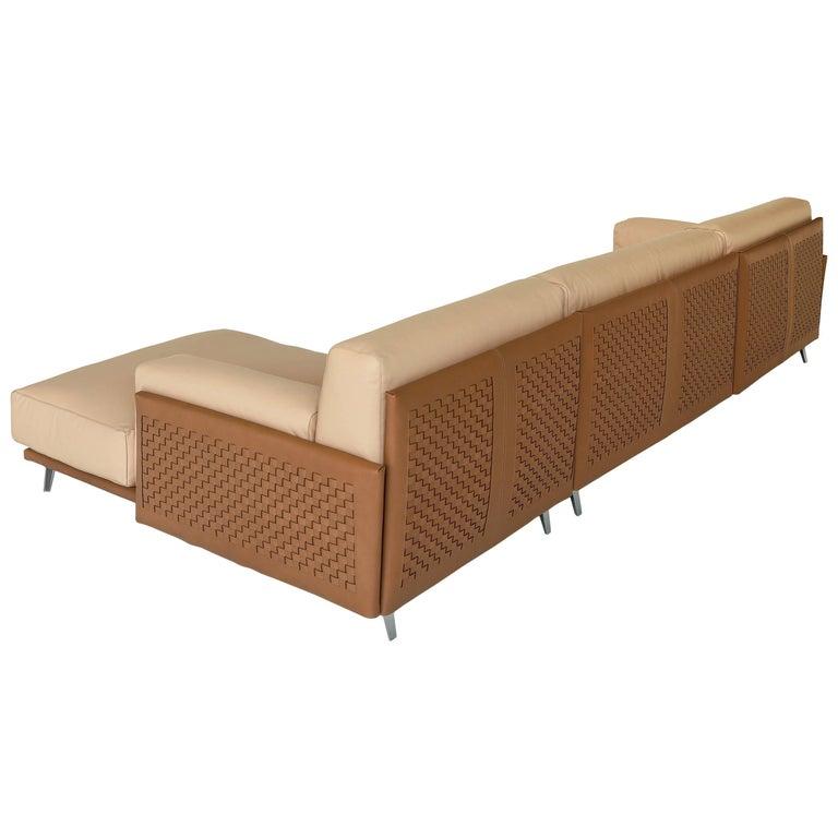 Arflex Frame Cowhide Sofa by Carlo Colombo