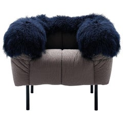 Arflex Pecorelle Armchair with Fur by Cini Boeri