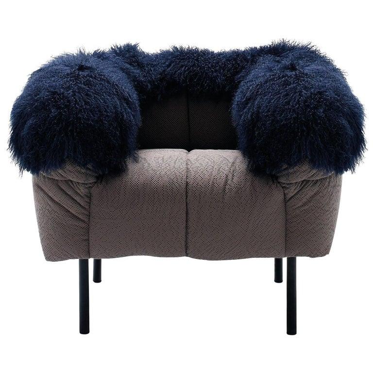 Arflex Pecorelle Armchair with Fur by Cini Boeri