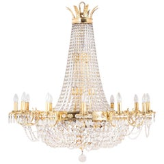 14 20th Century Regency Style Cut-Glass Chandeliers