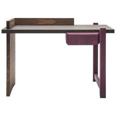 Handcrafted Oak Wood Desk Scrittoio Designed by Antonio Aricò