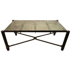 Jacques Adnet Iron Coffee Table French, circa 1960s
