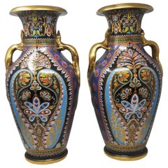 Magnificent Pair of Copeland Vases