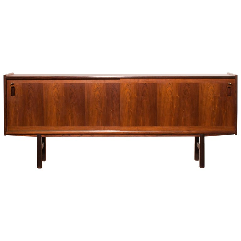 1950s, Rosewood Sideboard by Gunni Omann For Sale