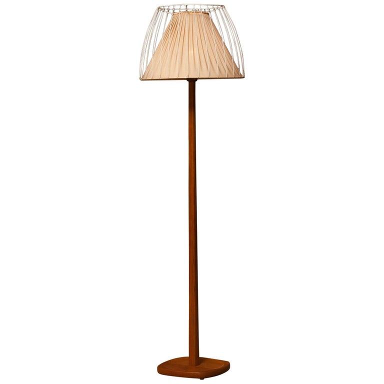 1950s, Teak Floor Lamp by Stilarmatur, Sweden For Sale