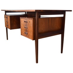 Danish Rosewood Floating Executive Desk, 1960s