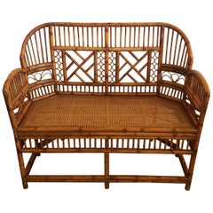 Classic Brighton Pavillion Style Bamboo Loveseat Settee