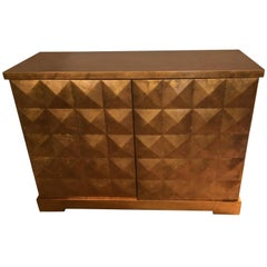 Eye Poppingly Chic Diamond Cabinet by Barbara Barry