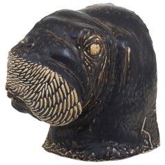 Walrus in Stoneware by Jeanne Grut