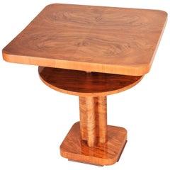 Small Austrian Art Deco Walnut Table, Period 1930-1939