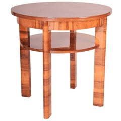 Small Czech Art Deco Walnut Table, Period 1930-1939