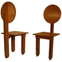 Two Cubist Chairs by Marcel-Louis Baugniet